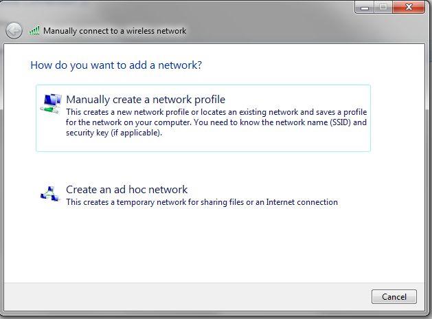 windows 7 change network profile
